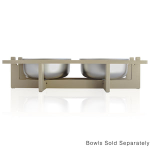 Rise Pet Bowl Stand for Large Bowls, Double Bowl Front View