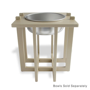 Rise Pet Bowl Stand for Large Bowls, Single Bowl High Front View