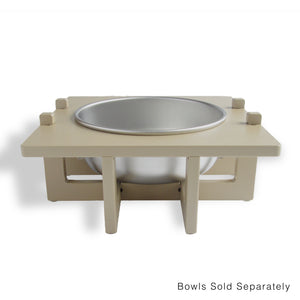 Rise Pet Bowl Stand for Large Bowls, Single Bowl Front View