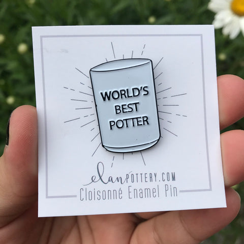 """World's Best Potter"" Enamel Pin"