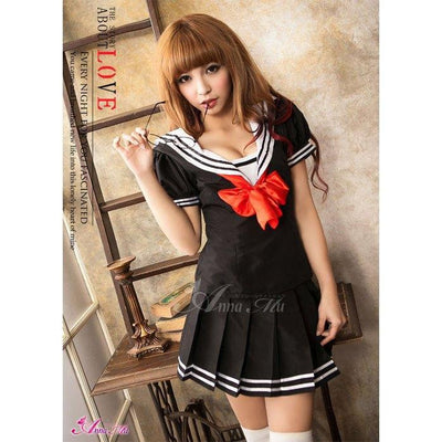 Anna Mu - School Sweet Heart NA13030199 (Black) Costumes - CherryAffairs Singapore