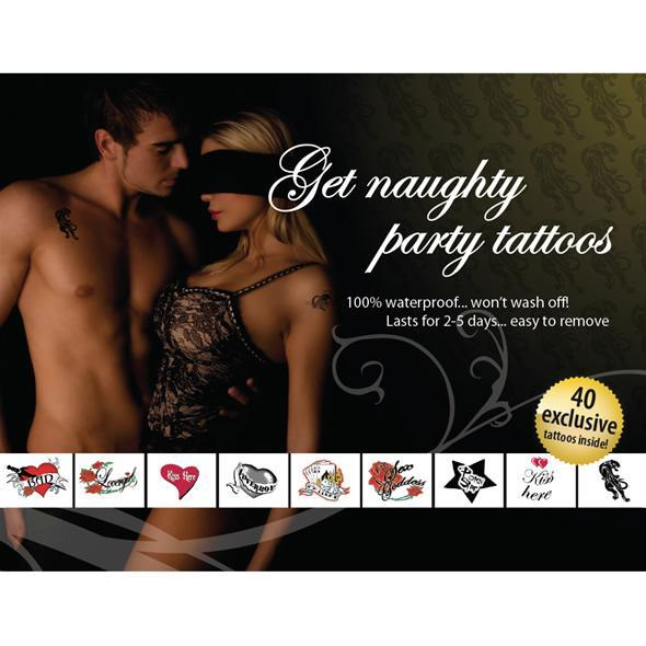 Get Naughty Party Tattoo Set Tattoo Singapore