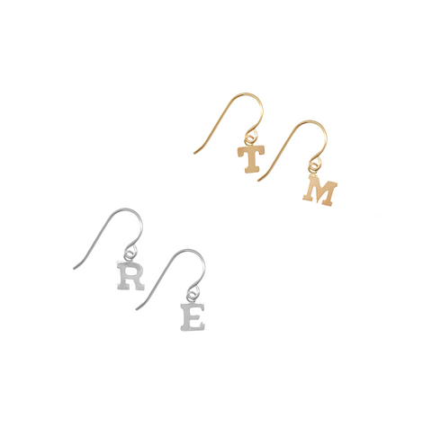 Alphabet City earring on earwire Pair  - Gold, Silver >>