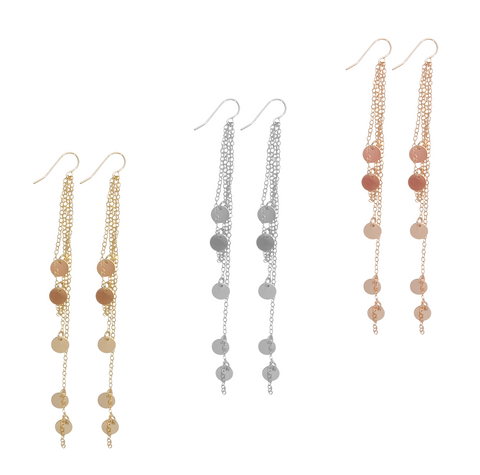 Neva Multi disc earring - Gold, Silver Rose Gold>>