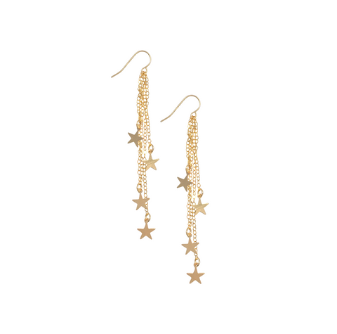 Stevie multi star earring - Gold, Silver Rose Gold>>