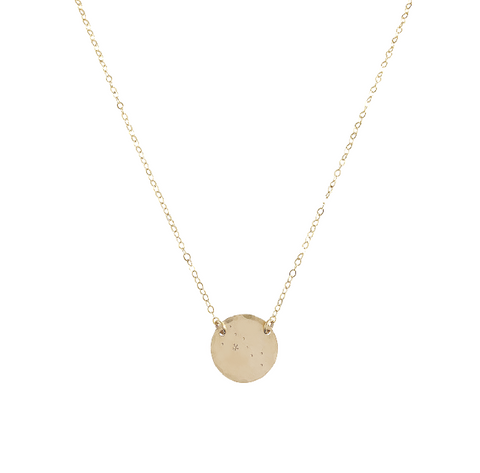 Zodiac Constellation Pendant -  TAURUS - Apr 21 - May 21 - Gold, Silver, Rose Gold >>