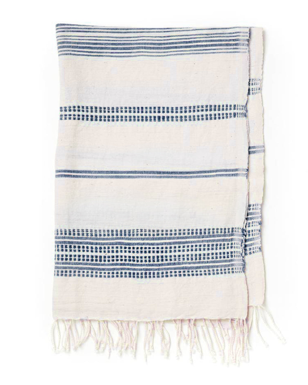Navy Woven Patterned Hand Towel | Creative Women