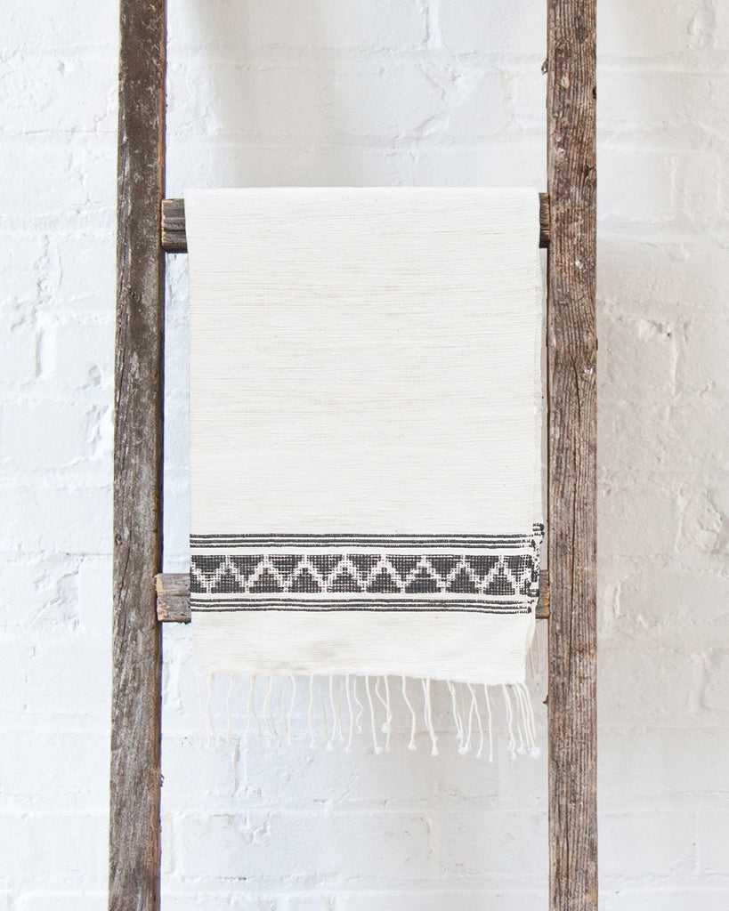 Gray Woven Patterned Hand Towel | Creative Women