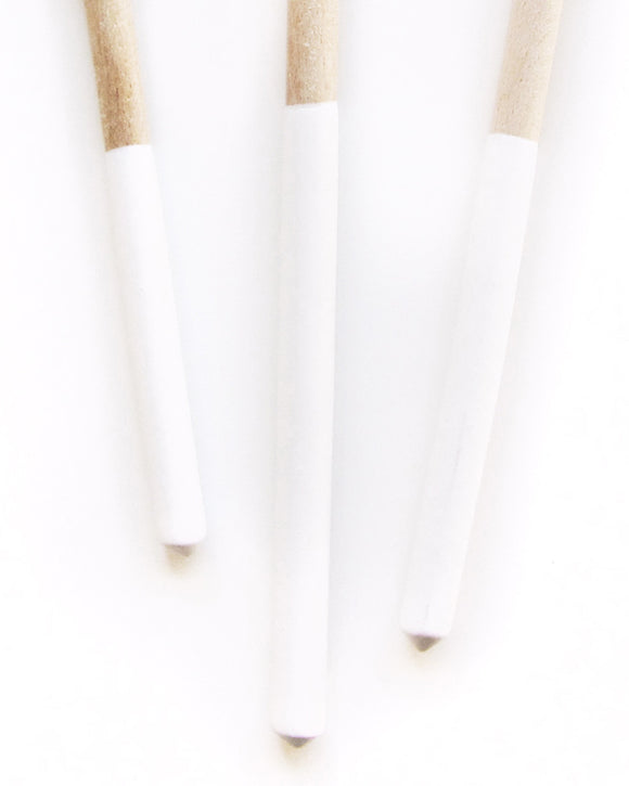 Dipped White Wood Spoon Trio | Willful Goods