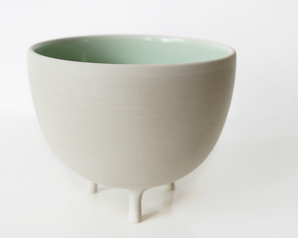 Mint Green Tripot Serving Bowl | Pigeon Toe