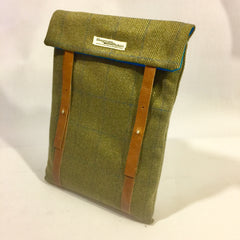 Green tweed Laptop Sleeve