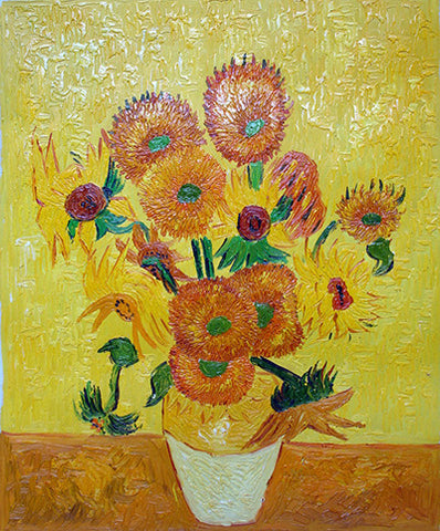 Oil Painting,Sunflower,Van Gogh,Yellow Version
