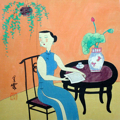 Body,Chinese Painting,Traditional Culture,Woman No.5,Book