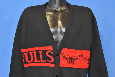 90s Chicago Bulls Cardigan Sweatshirt Large