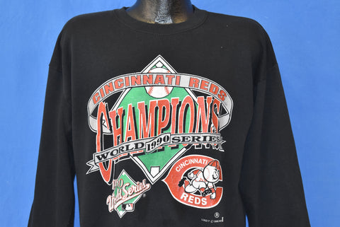 90s Cincinnati Reds World Series 1990 Sweatshirt Large