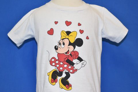 80s Minnie Mouse Hearts t-shirt Youth Small