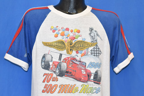 80s Indy 500 70th Anniversary 1986 t-shirt Medium