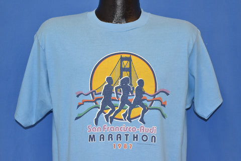 80s San Francisco 1987 Audi Marathon t-shirt Large
