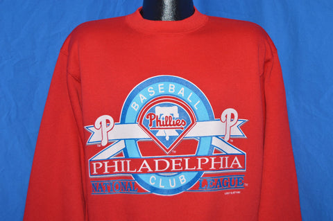 90s Philadelphia Phillies Crewneck Deadstock Sweatshirt Large