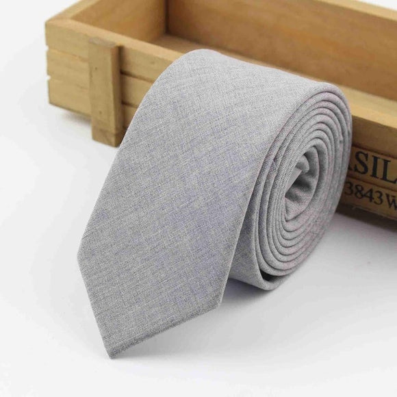 Luxury Handmade European Style Black Grey Classical Color 100% Wool Necktie