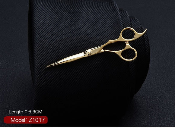Cute Golden Scissors Ty Clips