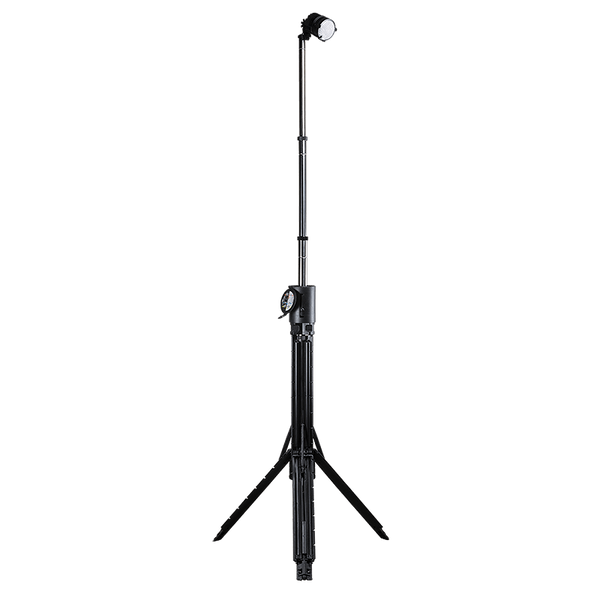 Nomad® Prime Portable Area-Spot Light - Durable and portable scene light delivers up to 4,000 lumens. Waterproof and rechargeable light can run up to 24 hours. Shown fully extended