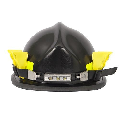 FoxFury Breakthrough® Wedge Black, set of 3 - Keep doors propped open. Shown on a fire helmet