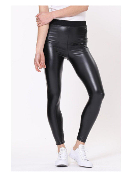 Patti - Faux Leather Leggings-Pants-Leggsington