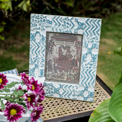 Block Print Photo Frame
