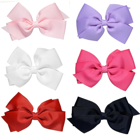 Whitney Queen 6 Pack Hair Bows for Girls - Hairclippy