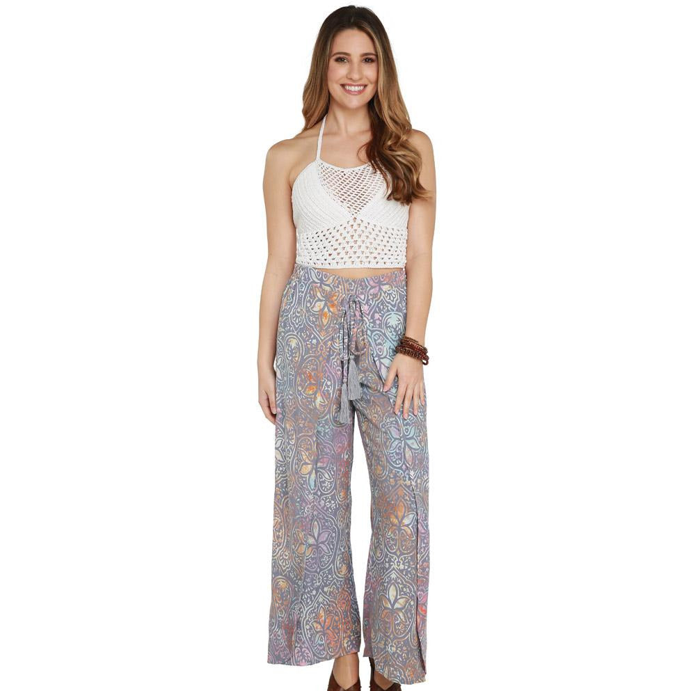 Printed Flowing Farrah Pant (Travida) - New2Youlx
