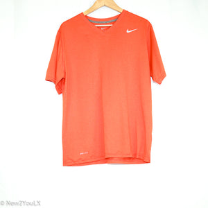 V-Neck Orange Shirt (Nike) - New2Youlx