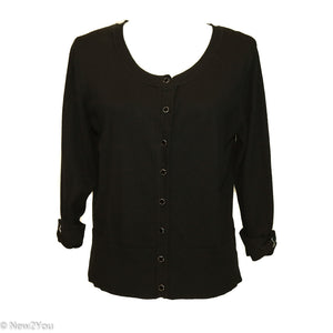 Black Button Down Cardigan - New2You Lx