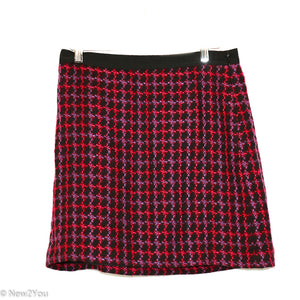 Black Multicolor Tweed Skirt (Ann Taylor Loft) - New2You Lx