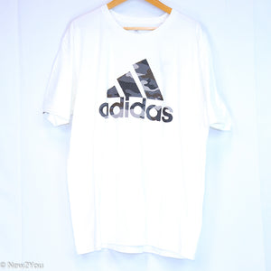 White Graphic T-Shirt (Adidas) - New2Youlx