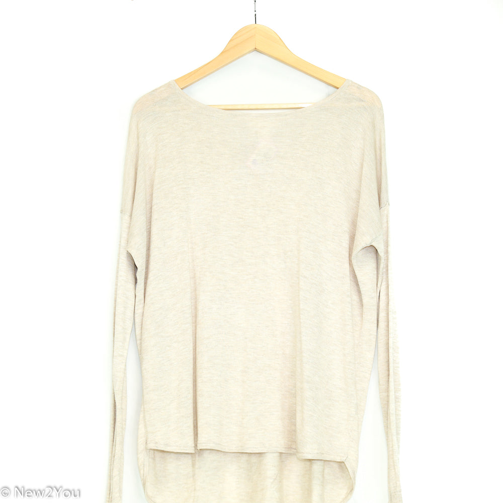 Oatmeal Knit Sweater (H & M) - New2Youlx