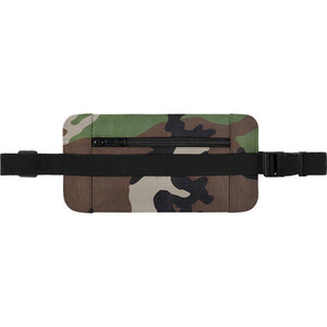 Leather Waist/Shoulder Pouch in Woodland Camo