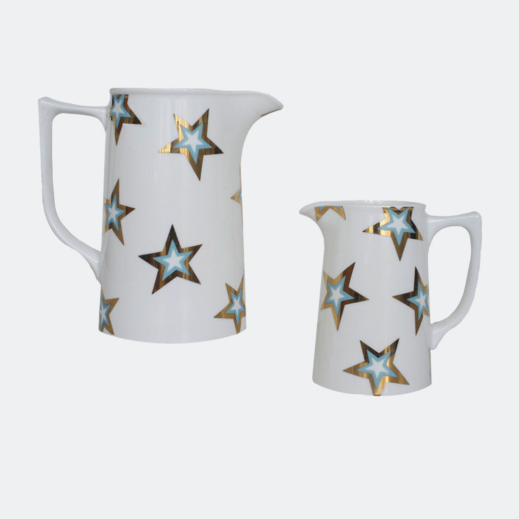 GOLD STAR BLUE JUGS : 1 PINT / 2 PINTS - Dandy Star