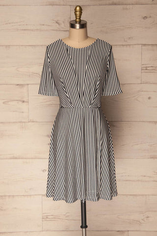 Grybow Night Black & White Striped Summer Dress | La Petite Garçonne