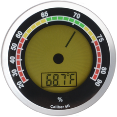 Caliber 4R Digital Hygrometer Silver - ACC-CALIBER4R-Silver - Cigar Manor