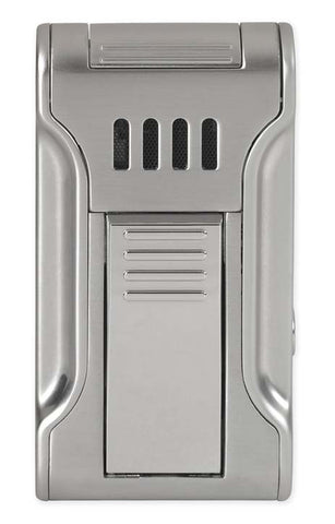 BLACK LABEL Dictator Flat Torch Lighter Polished Chrome