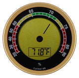 Caliber 4R Digital Hygrometer Gold - ACC-CALIBER4R-Gold - Cigar Manor