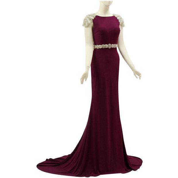 Stunning Cap Sleeve Gown