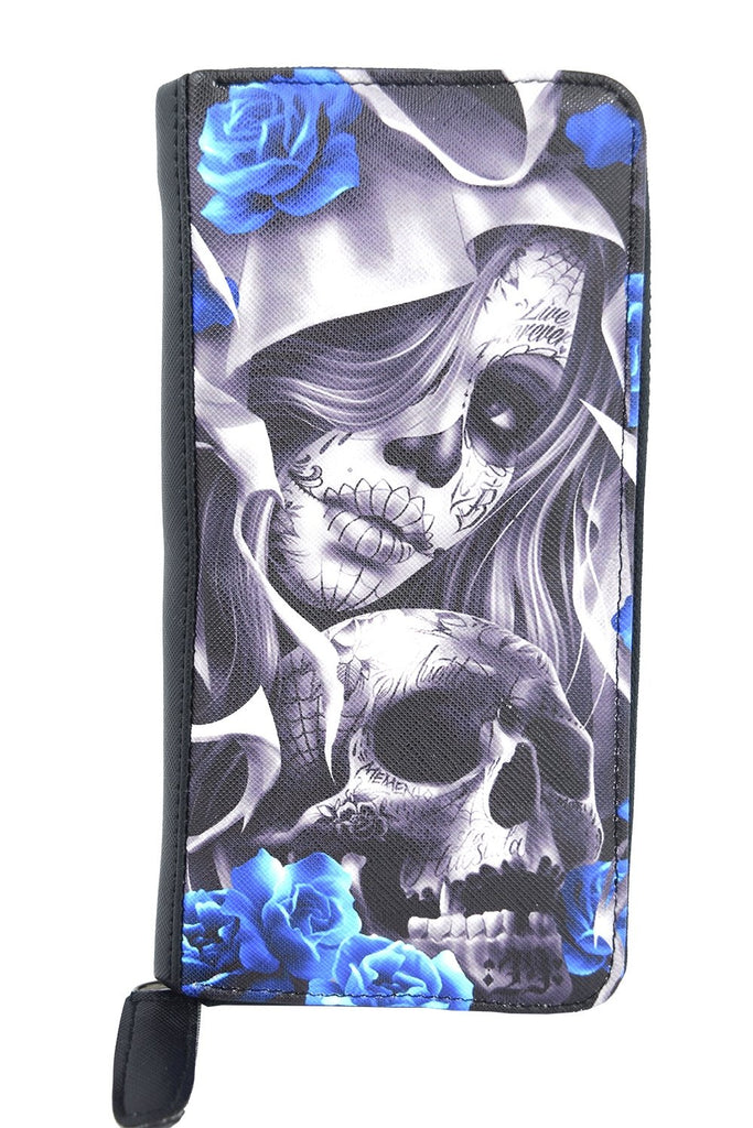 Liquorbrand Los Muertos Sugar Skull zip around clutch Wallet