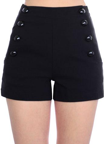 sailor pinup black shorts