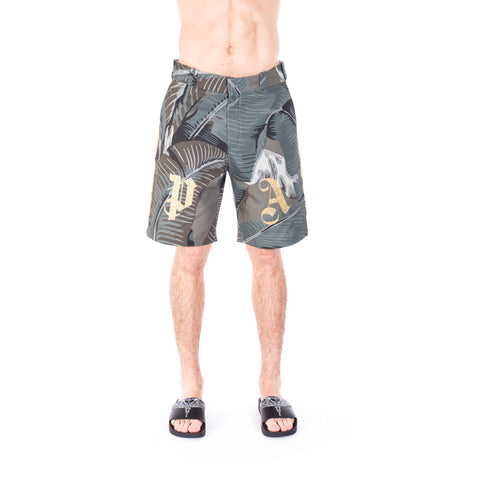 All Over Banana Leaf Shorts