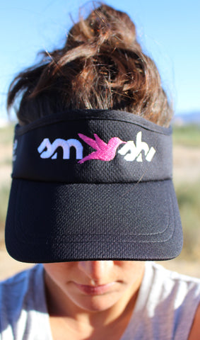 Black Embroidered SMASH visor