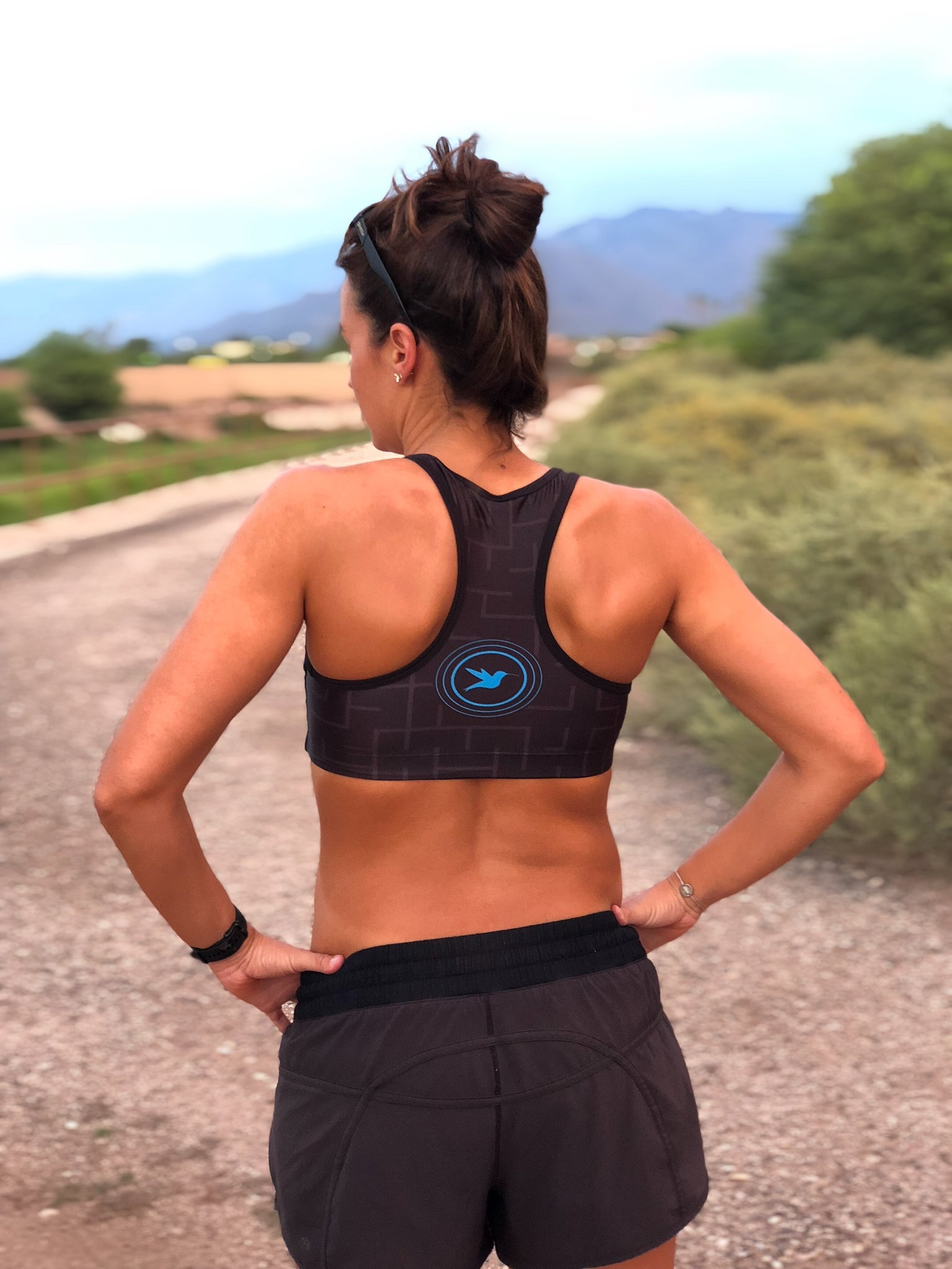Heart Racerback Sports Bra