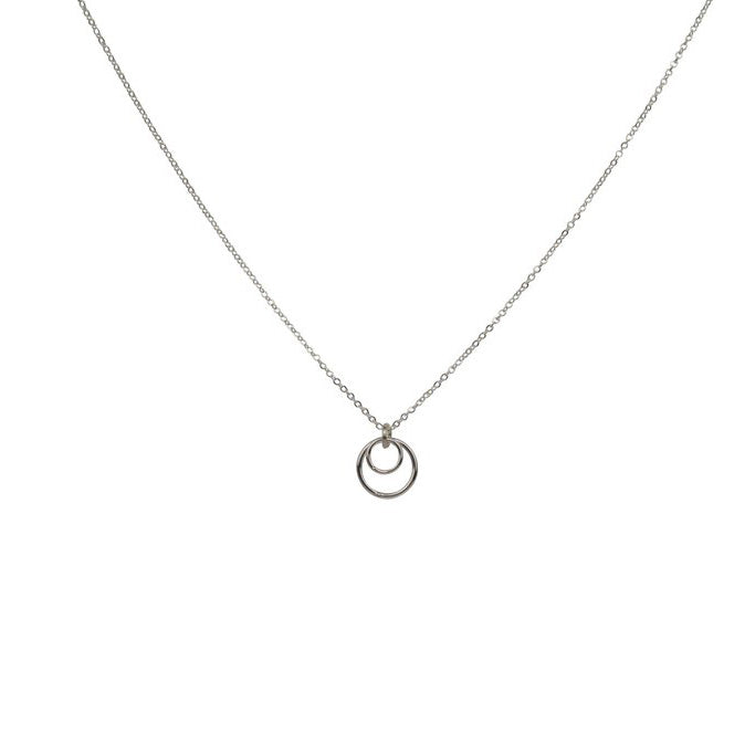 Double Circle Thin Necklace