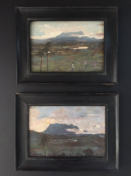 Pair Of Signed Oil Landscapes